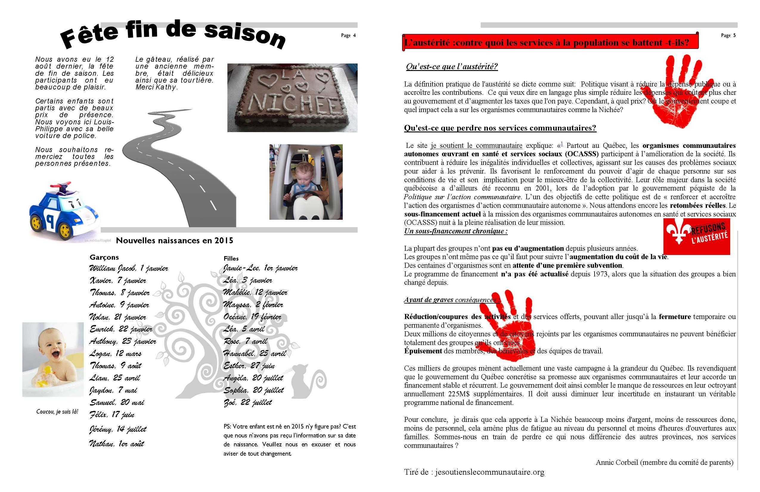Info-Nichée été-automne 2015 p.4-5